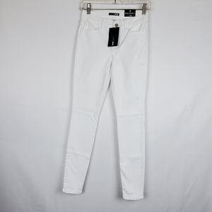 Fashion Nova White Skinny Jeans 3
